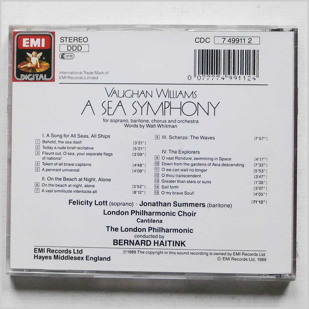Bernard Haitink, The London Philharmonic Choir - Vaughan Williams: A Sea Symphony (77774991124)