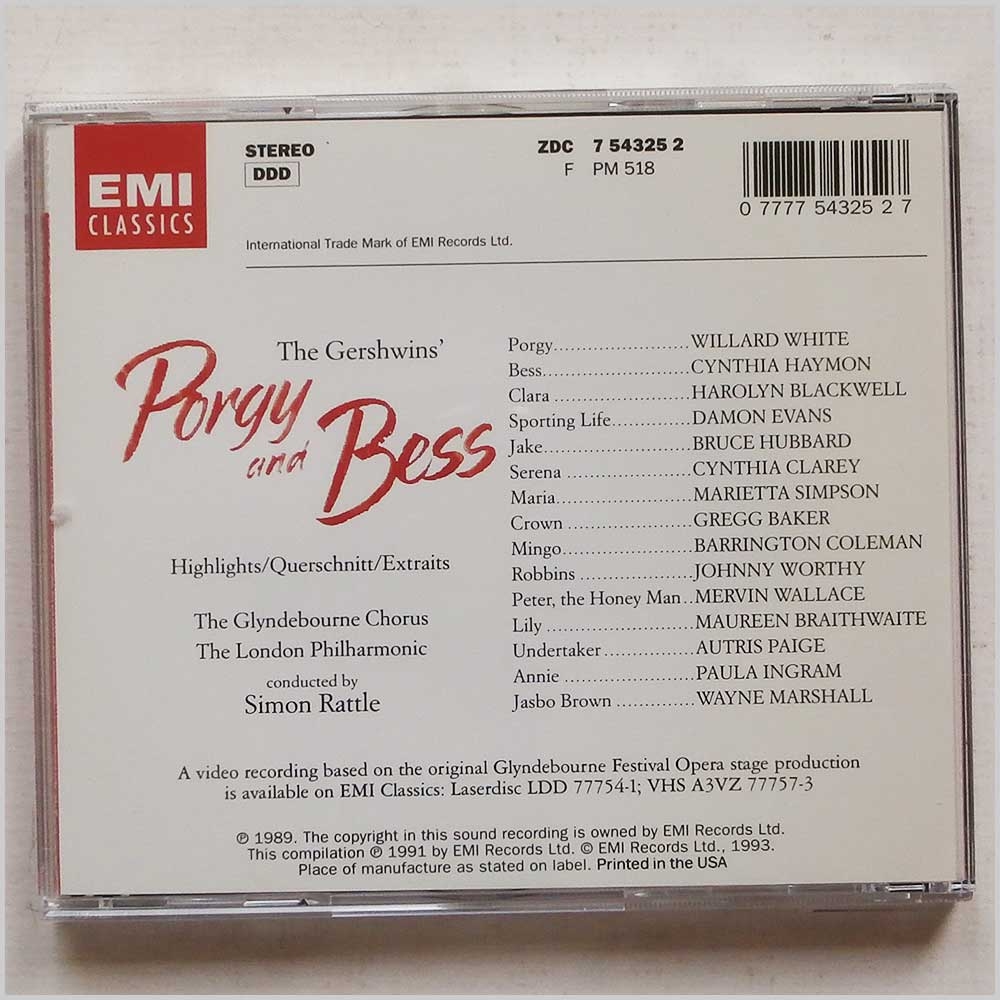 Simon Rattle, The Glynbourne Chorus and The London Philharmonic - Gershwin: Porgy and Bess (77775432527)
