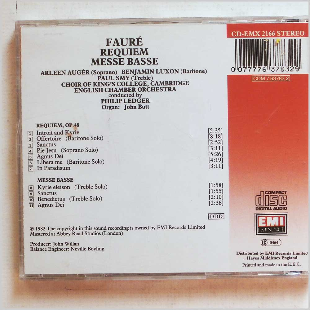 Paul Smy, Philip Ledger - Faure: Requiem, Messe Basse (77776378329)