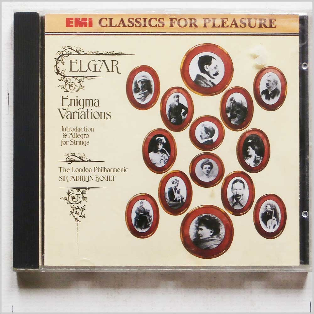 Sir Adrian Boult,  London Philharmonic Orchestra - Elgar: Enigma Variations, Introduction and Allegro for Strings (77776735429)
