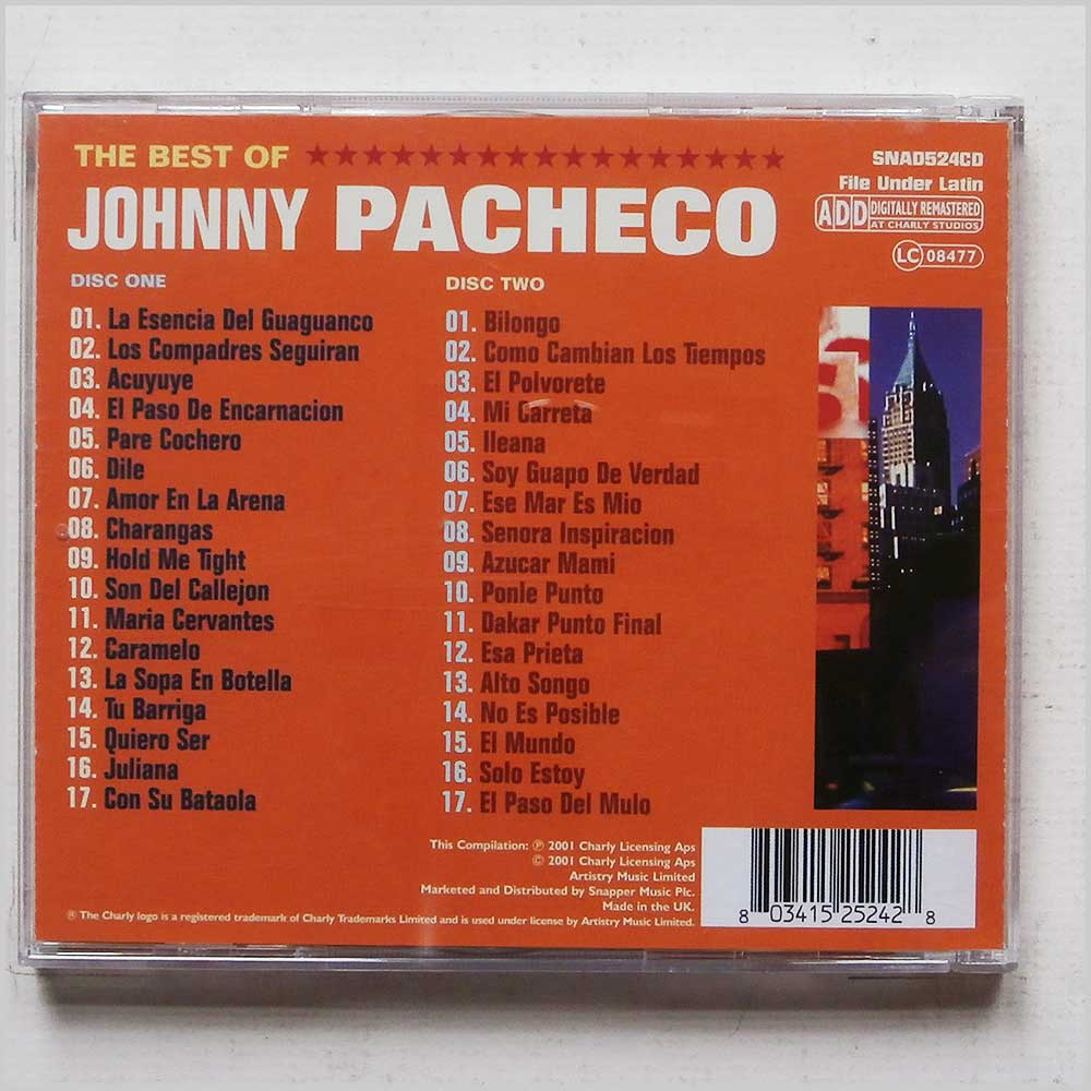 Johnny Pacheco - The Very Best Of Johnny Pacheco (803415252428)