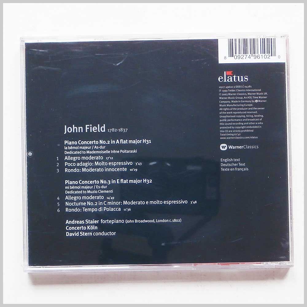 Andreas Staier - John Field: Piano Concertos Nos. 2 and 3 (809274961020)