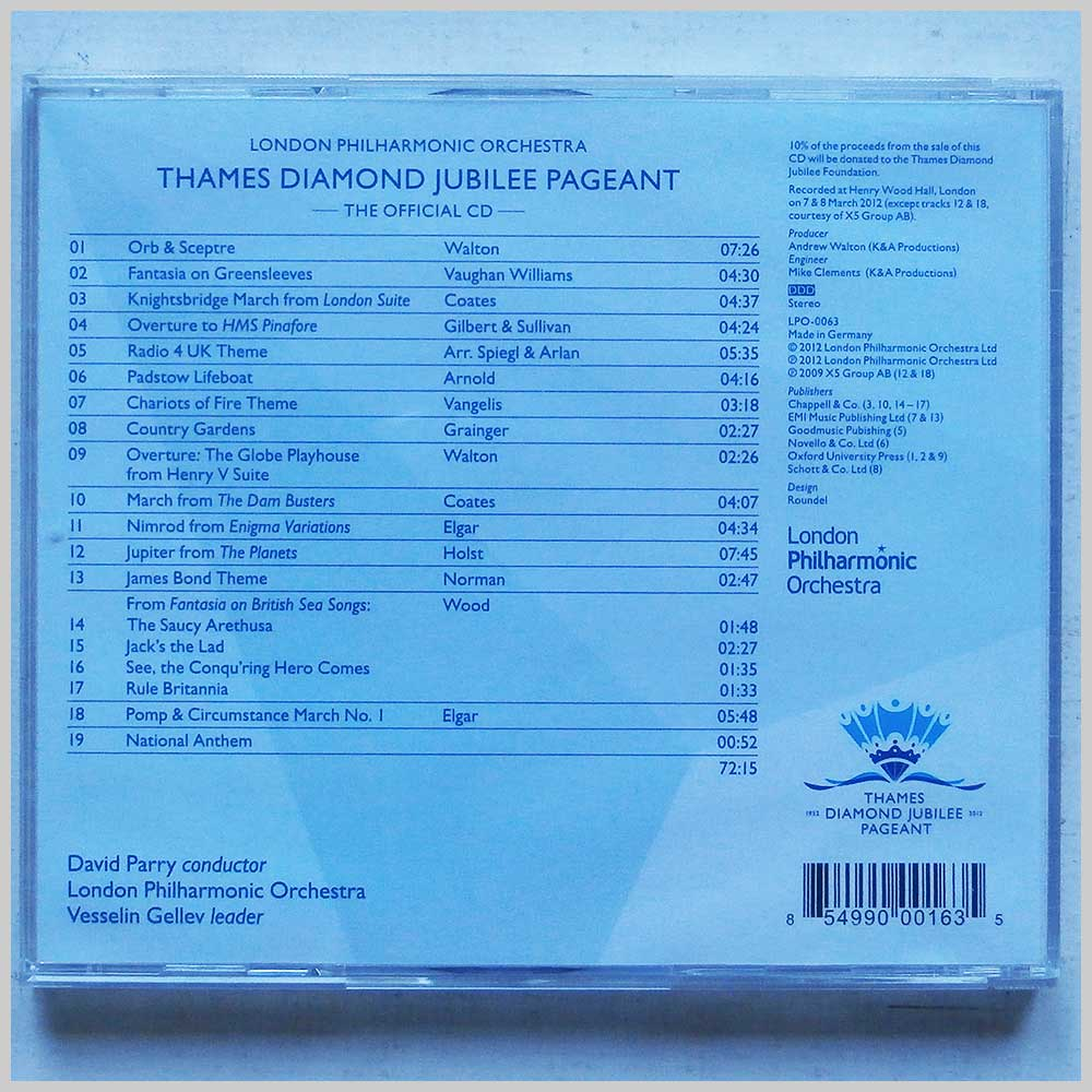 London Philharmonic Orchestra - Thames Diamond Jubilee Pageant (854990001635)