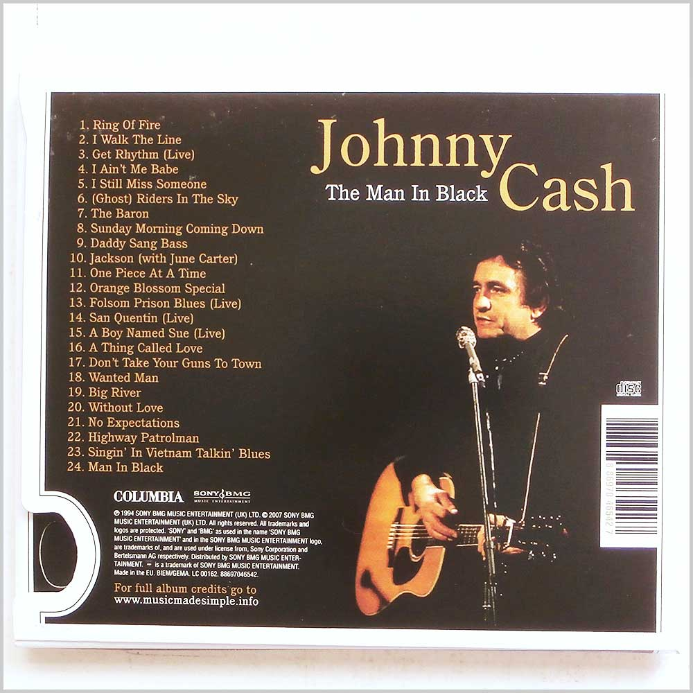 Johnny Cash - Man In Black: The Definitive Collection (886970465427)