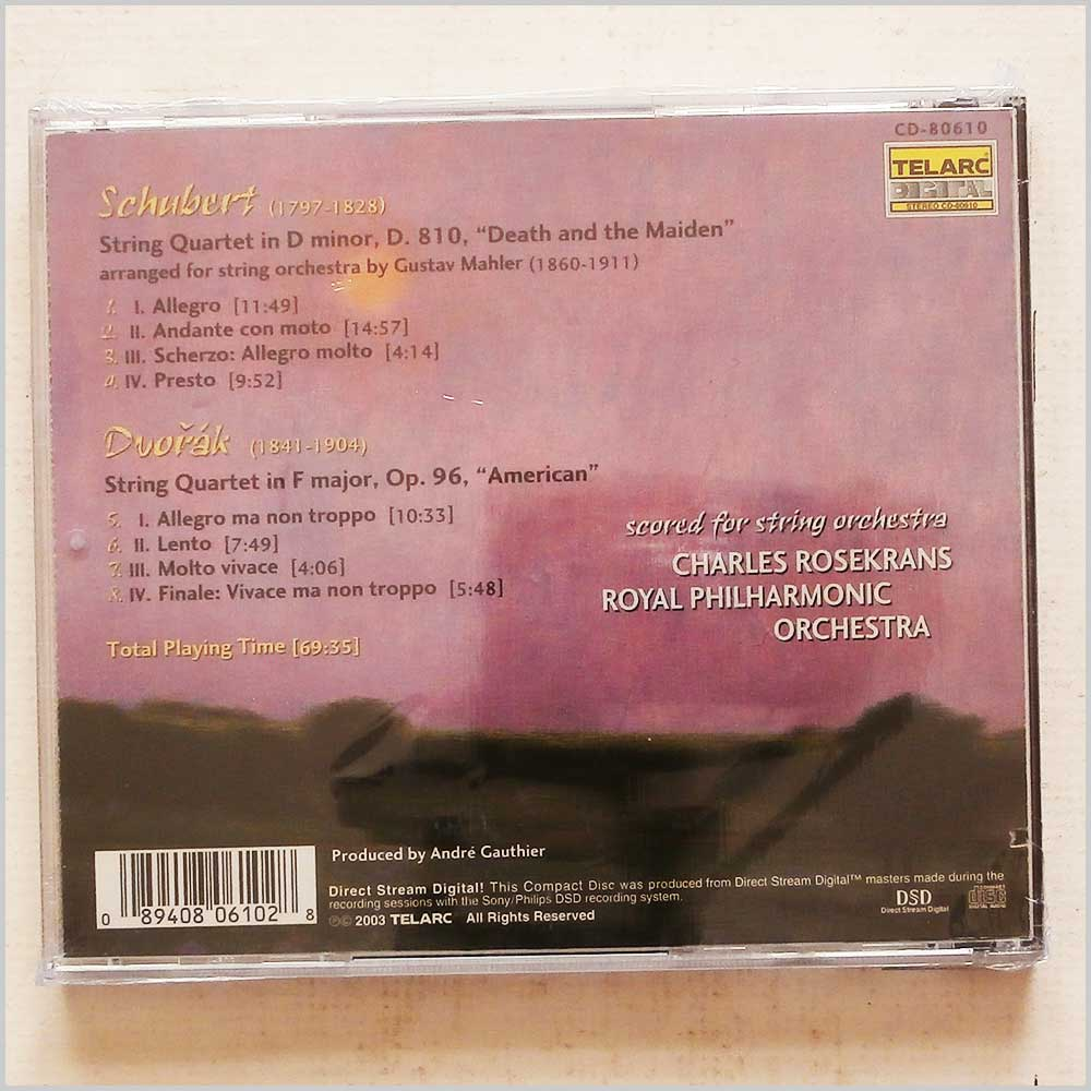 Charles Rosekrans, Royal Philharmonic Orchestra - Schubert: Death and the Maiden; Dvorak: American (89408061028)