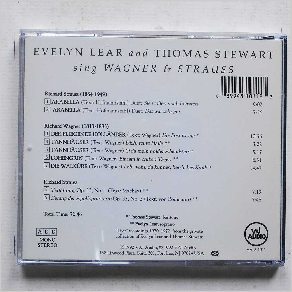 Evelyn Lear, Thomas Stewart - Evelyn Lear and Thomas Stewart Sing Wagner and Strauss (89948101123)