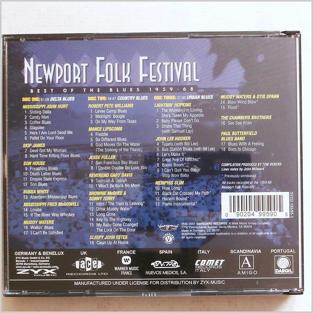 Various - Newport Folk Festival: The Best of the Blues 1959-1968 (90204995905)