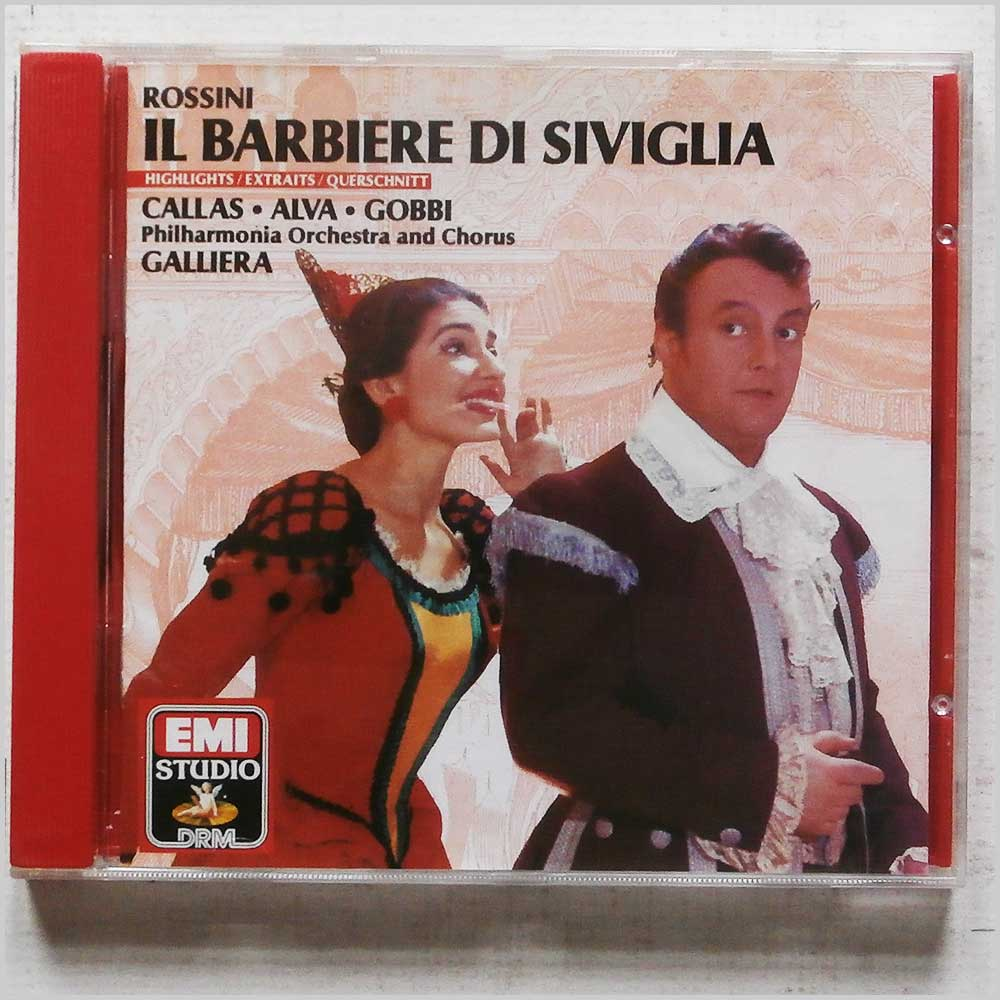 Maria Callas, Luigi Alva - Rossini: Il Barbiere di Siviglia, The Barber of Seville (CDM 7 63076 2)