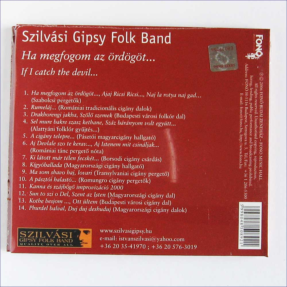 Szilvasi Gipsy Folk Band - If I Catch The Devil  (FA-089-2)