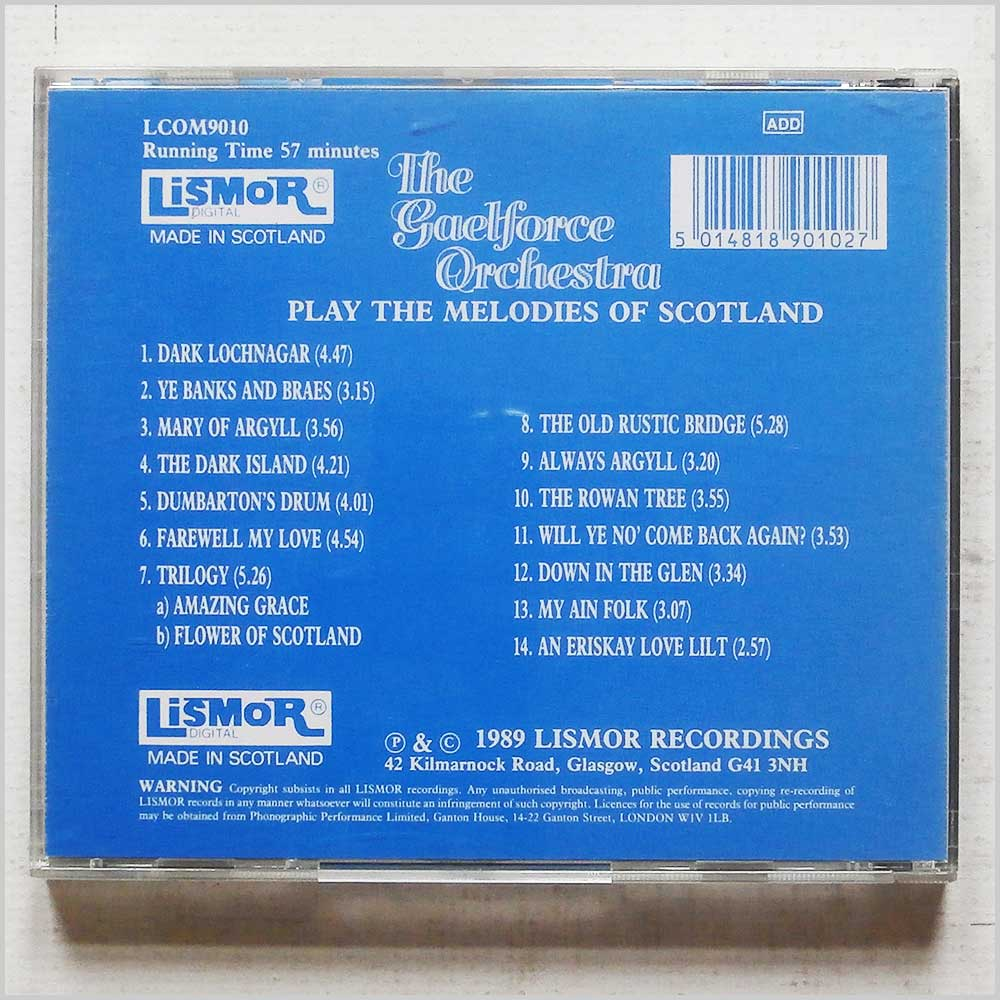 The Gaelforce Orchestra - The Gaelforce Orchestra Play Melodies of Scotland (LCOM 9010)