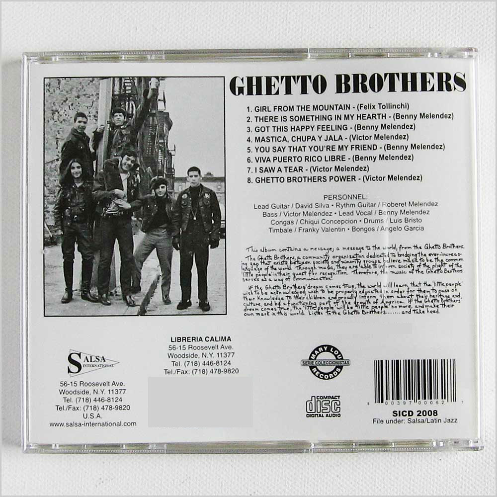 Ghetto Brothers - Fuerza, Power (SICD2008)