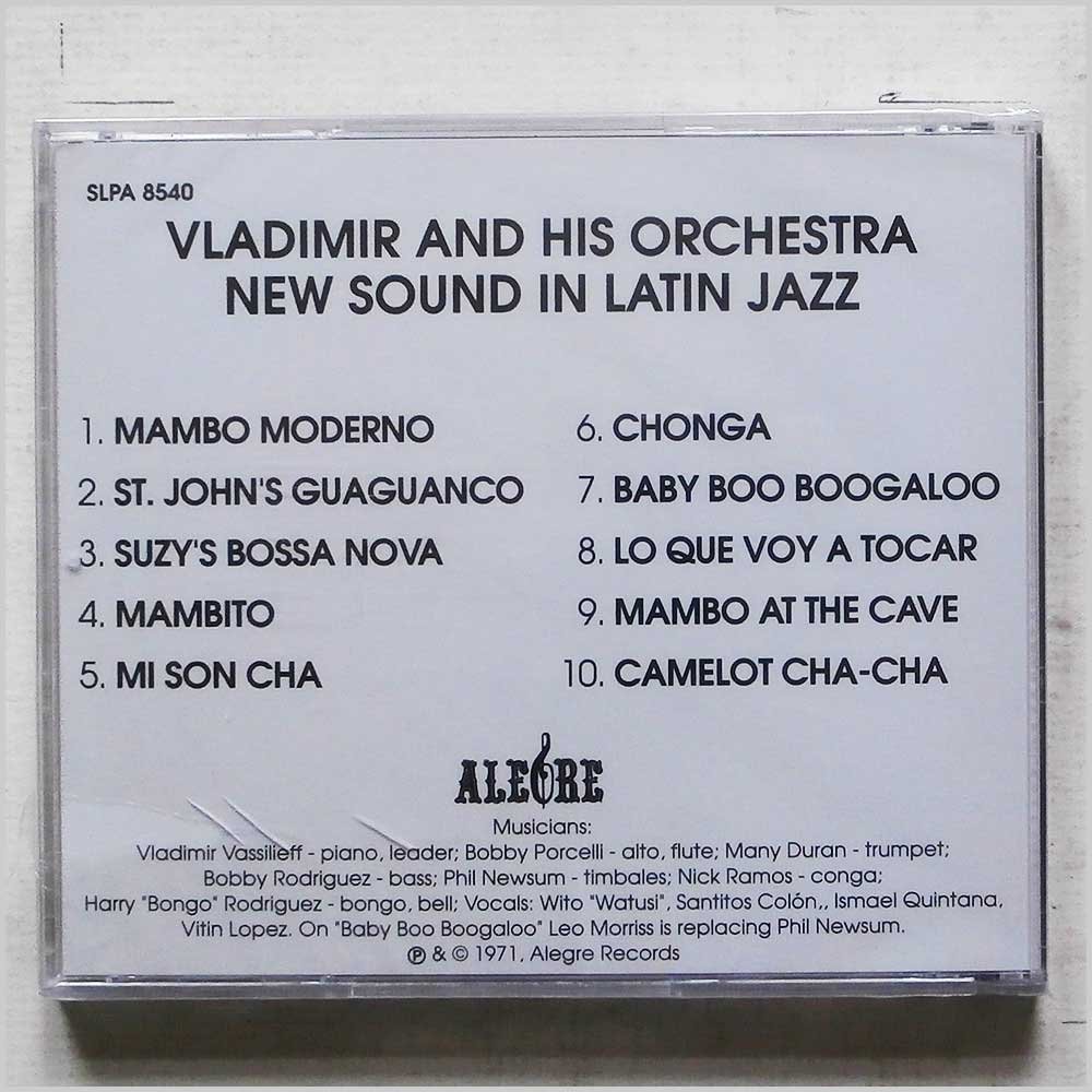 Vladimir and his Orchestra - New Sound In Latin Jazz (SLPA 8540)
