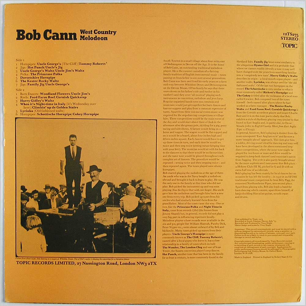 Bob Cann - West Country Melodeon (12TS275)