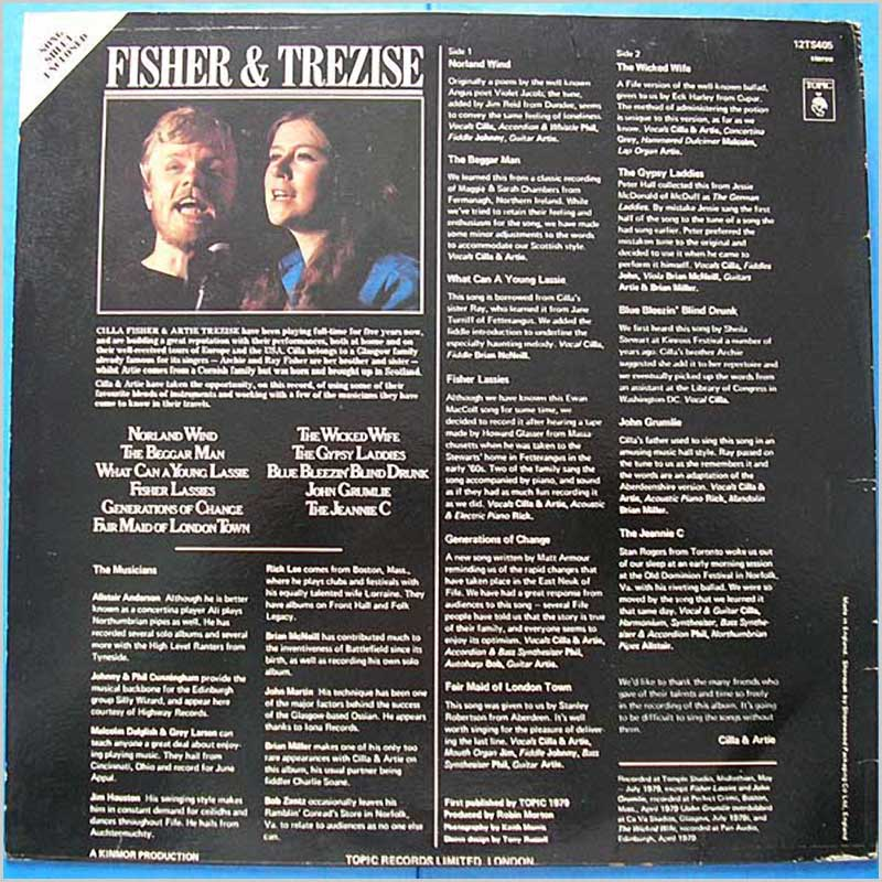 Cilla Fisher and Artie Trezise - Cilla & Artie (12TS405)