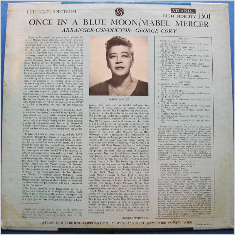 Mabel Mercer - Once In A Blue Moon (1301)