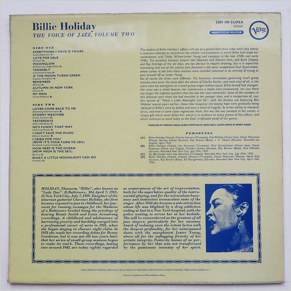 Billie Holiday - The Voice Of Jazz.Vol. Two (2304 109)