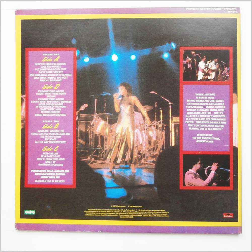 Millie Jackson - Live And Uncensored (2683 073)