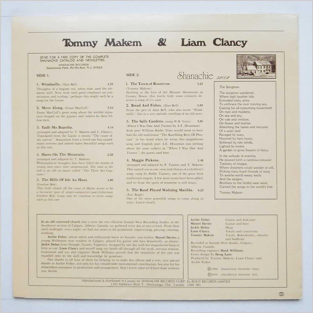 Tommy Makem And Liam Clancy - Tommy Makem And Liam Clancy (52002)