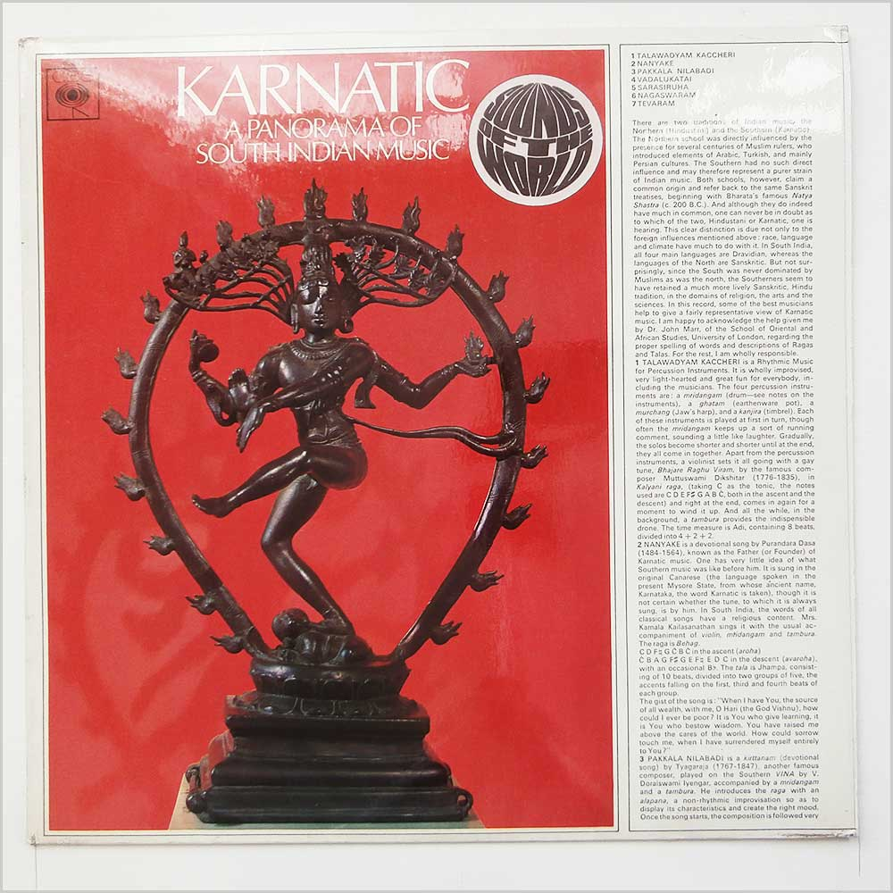 Karnatic - A Panorama Of South Indian Music (63257)