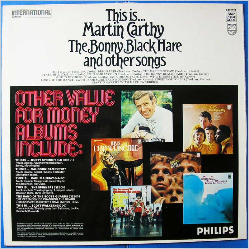 Martin Carthy - The Bonny Black Hare and other Songs (6382022)
