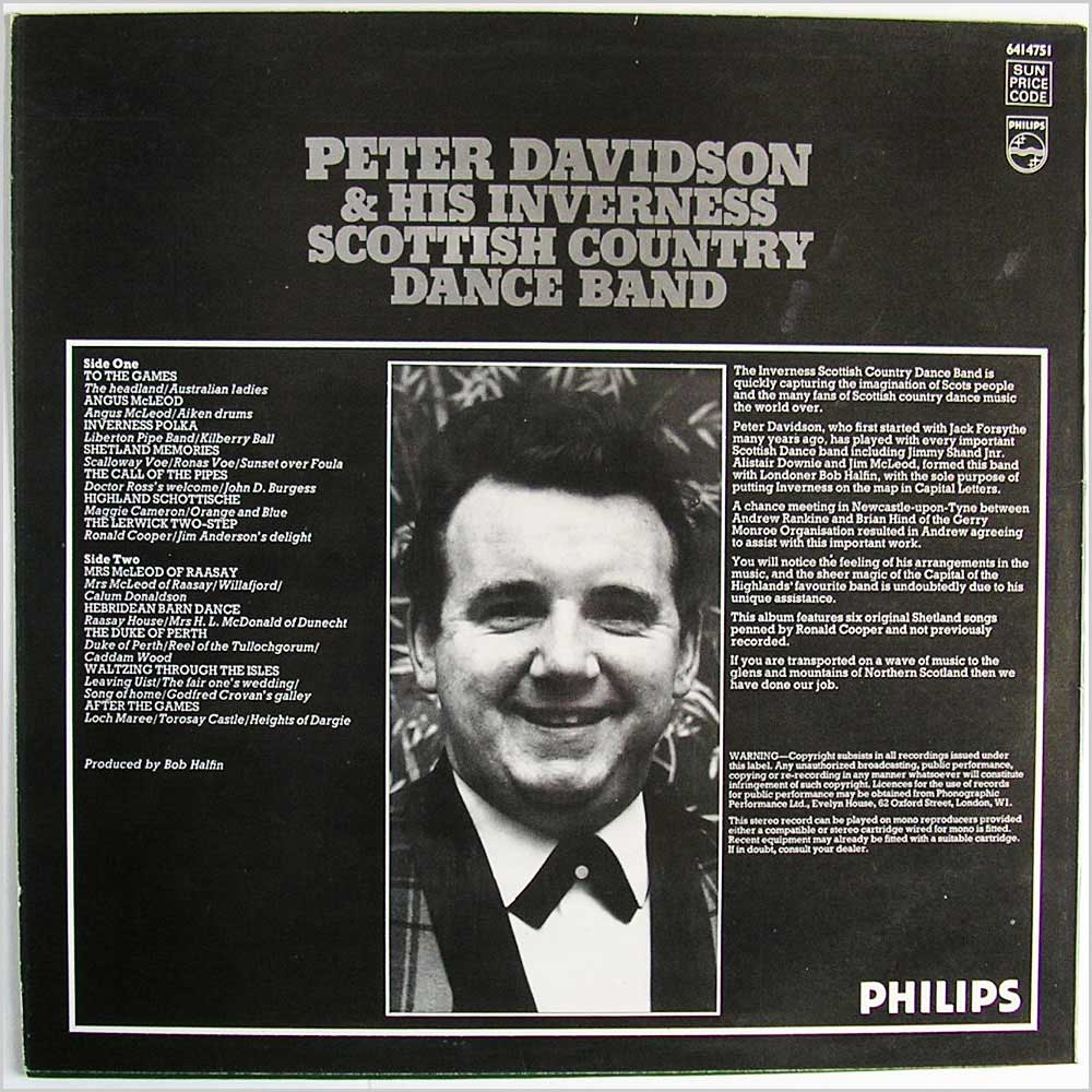 Peter Davidson & His Inverness Scottish Country Dance Band - Peter Davidson & His Inverness Scottish Country Dance Band (641 4751)
