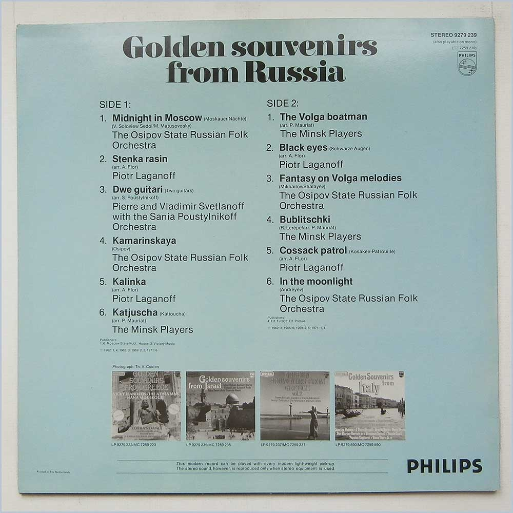 Various - Golden Souvenirs From Russia (9279 239)