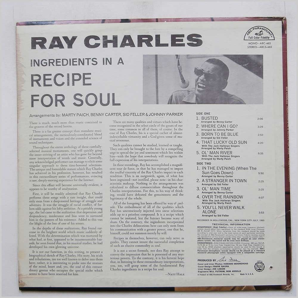Ray Charles - Ingredients In A Recipe For Soul (ABC 465)