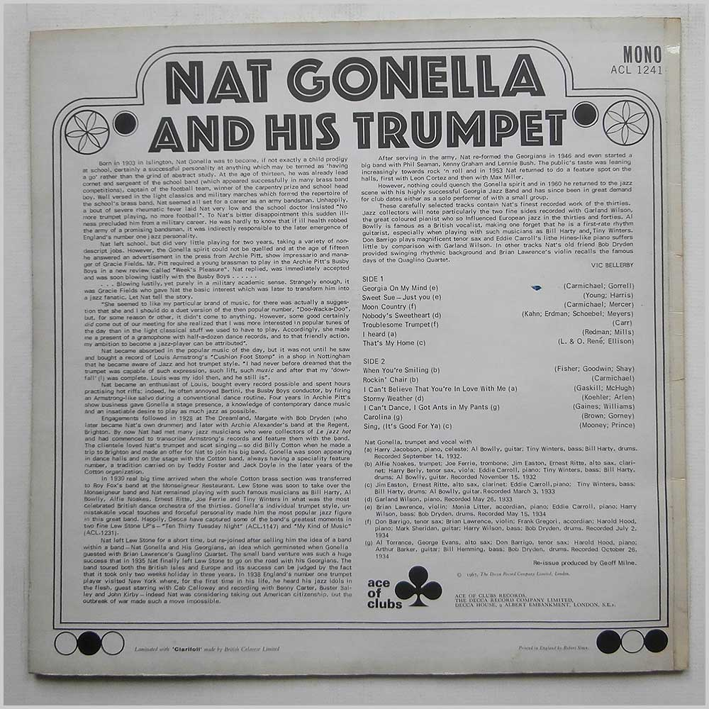 Nat Gonella - Nat Gonella And His Trumpet (ACL 1241)