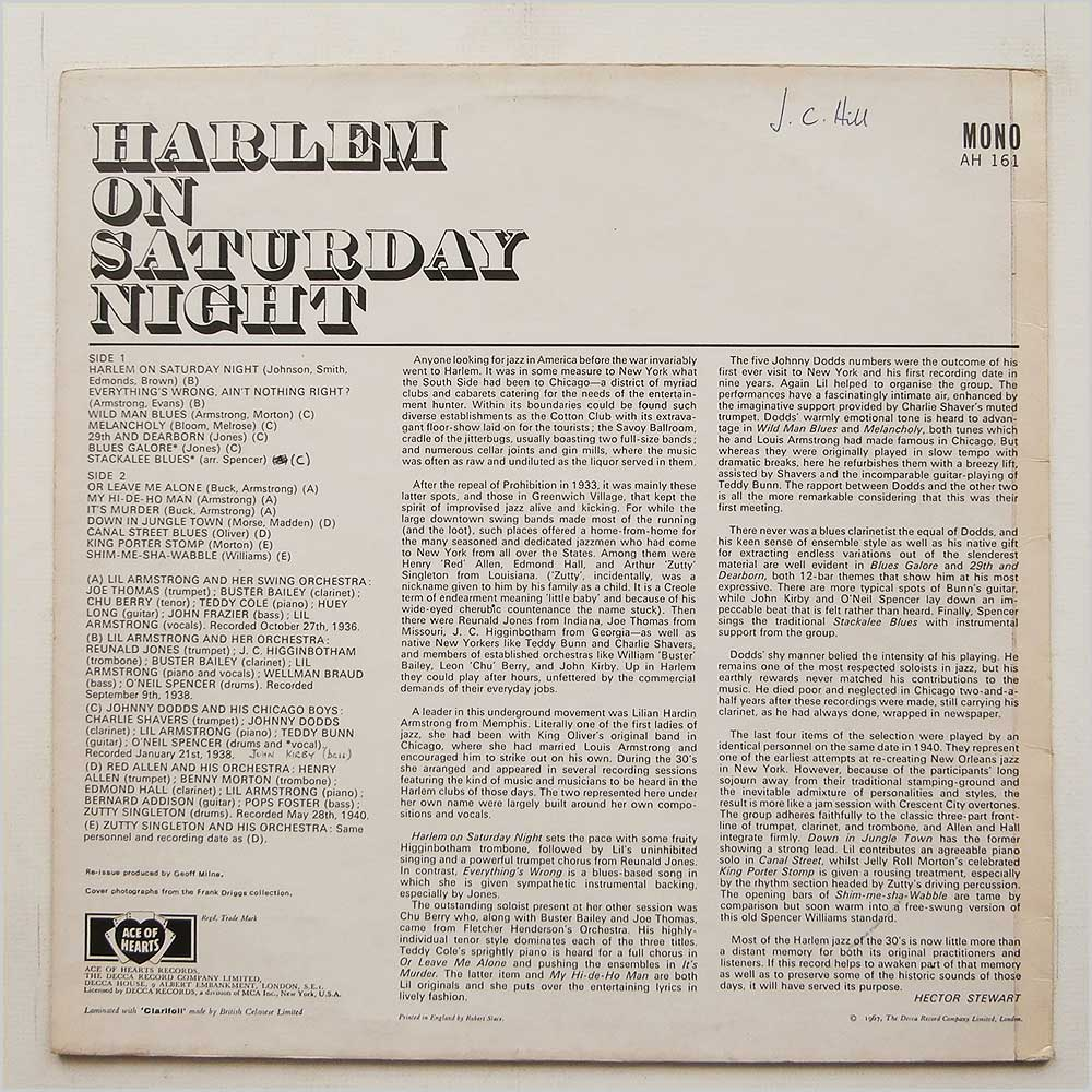 Various - Harlem On Saturday Night (AH 161)