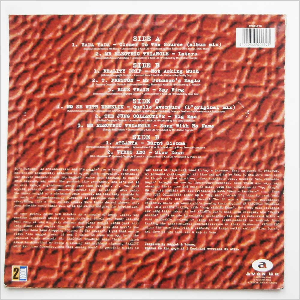 Various - Rhythm Republic Jazz Volume One (AVEX LP36)