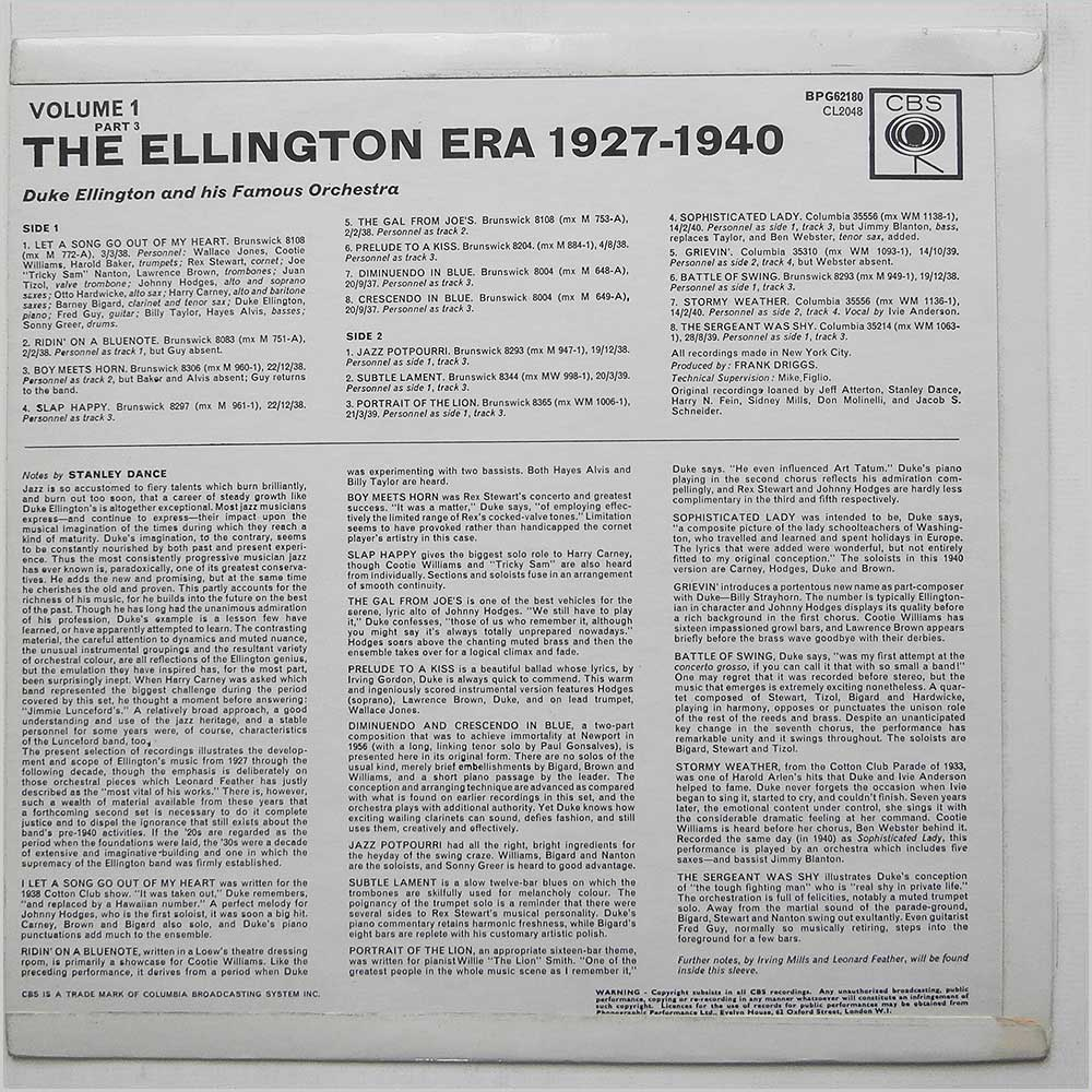 Duke Ellington - The Ellington Era, 1927-1940: Volume One, Part Three (BPG 62180)