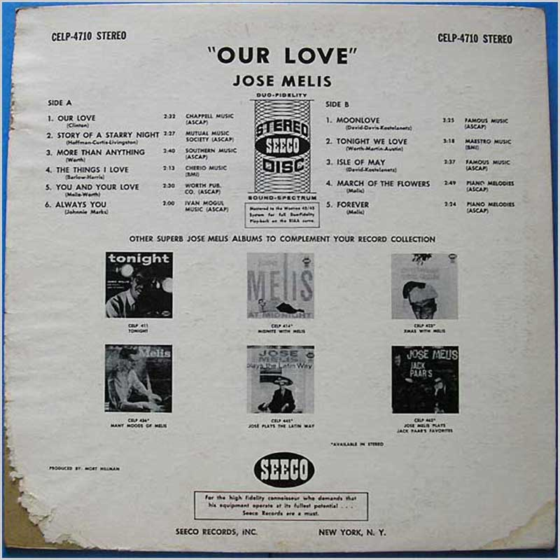 Jose Melis - Our Love (CELP-4710)