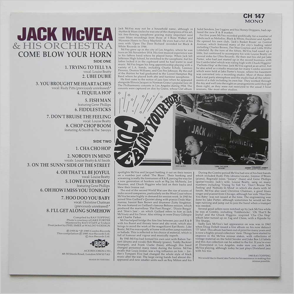 Jack McVea & His Orchestra - Come Blow Your Horn (CH 147)