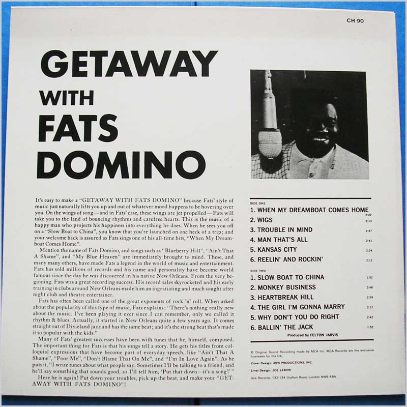 Fats Domino - Getaway With Fats Domino (CH 90)