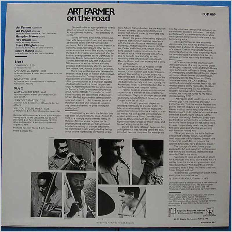 Art Farmer - On The Road (COP 009)
