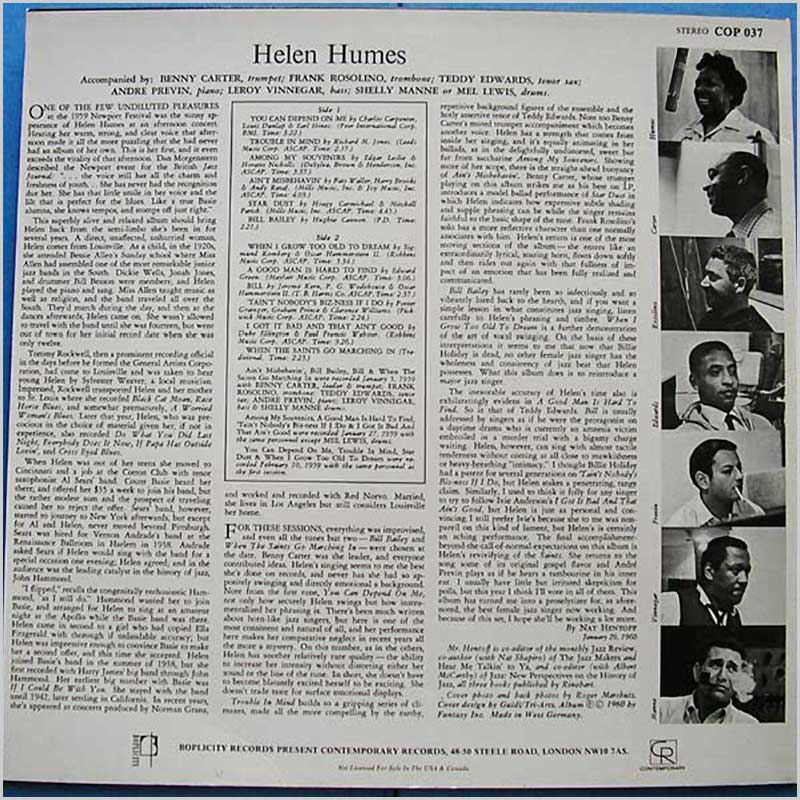 Helen Humes - Taint Nobody's Biz-ness If I Do (COP 037)