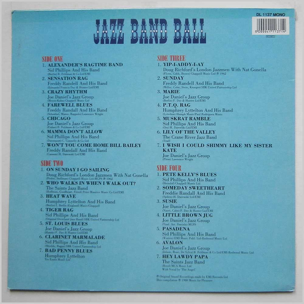 Various - Jazz Band Ball (DL 1137)
