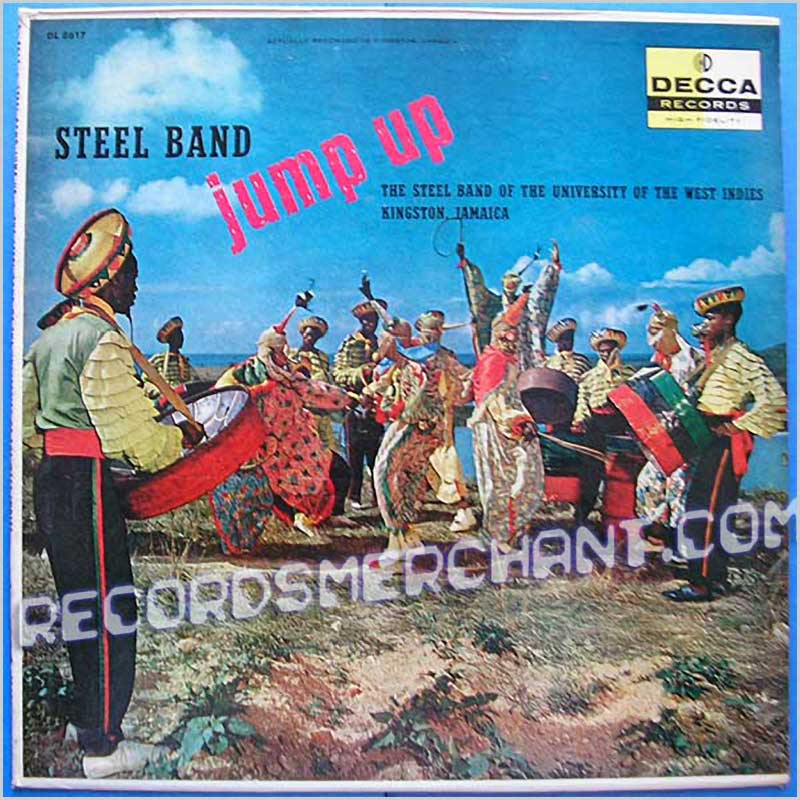 The Steel Band Of The University Of The West Indies Kingston, Jamaica - Steel Band Jump Up (DL 8617)