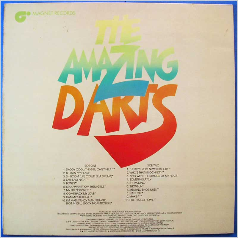 The Amazing Darts - 20 Amazing Tracks (DLP 7981)