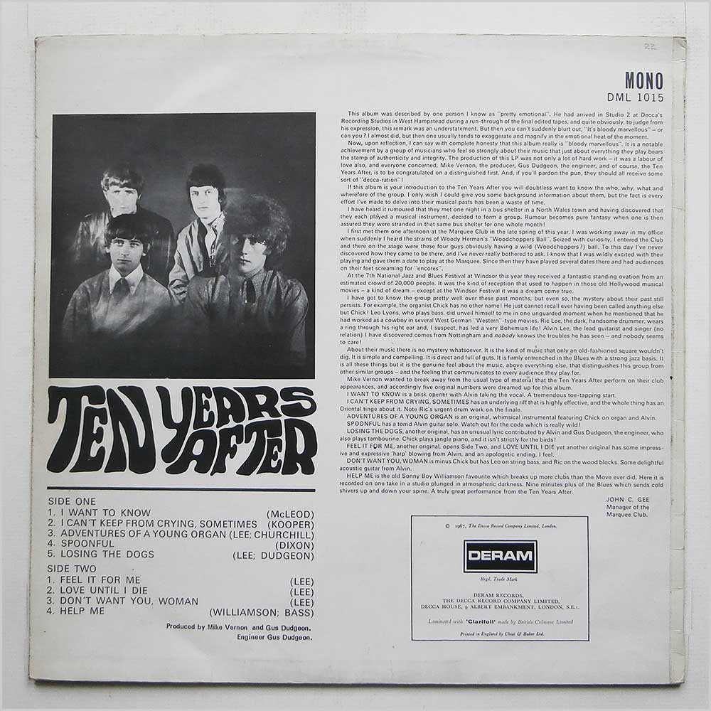 Ten Years After - Ten Years After (DML 1015)