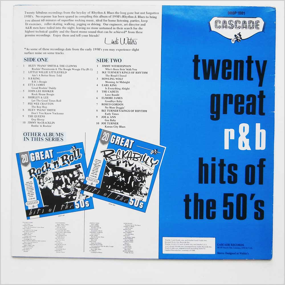 Various - 20 Great R And B Hits Of The 50's (DROP 1001)