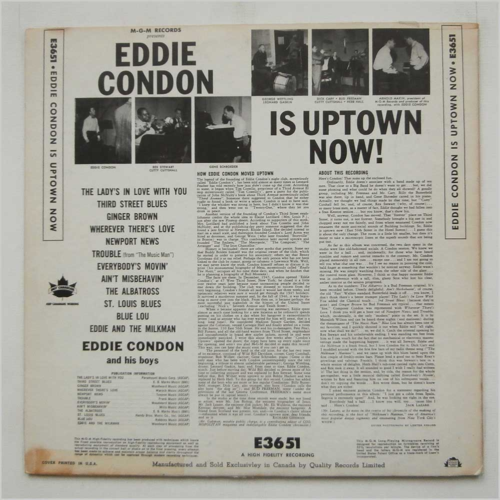 Eddie Condon - Eddie Condon Is Uptown Now (E3651)