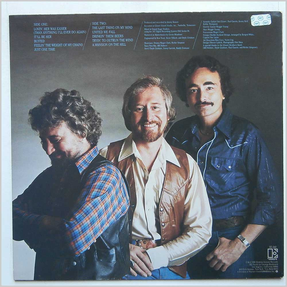 Tompall And The Glaser Brothers - Lovin' Her Was Easier (ELEKTRA 5E-542)