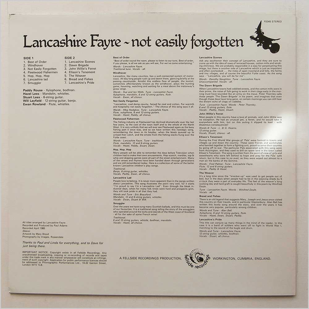 Lancashire Fayre - Not Easily Forgotten (FE045)