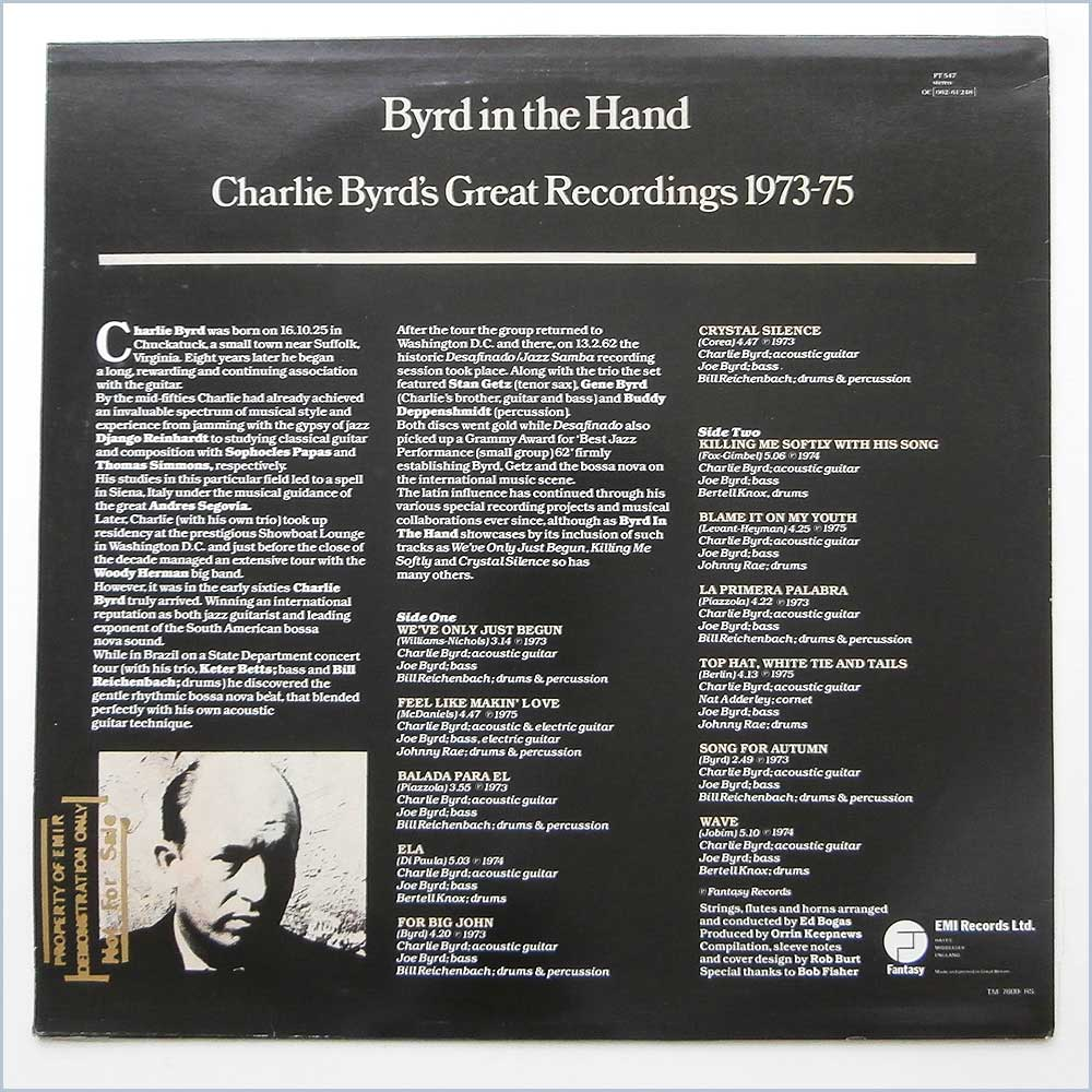Charlie Byrd - Byrd In The Hand Charlie Byrd'S Greatest Recordings 1973-75 (FT 547)