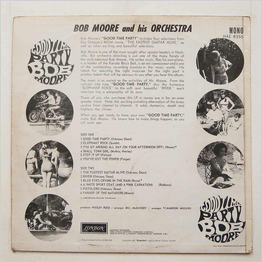 Bob Moore And His Orchestra - Good Time Party (HAE 8350)