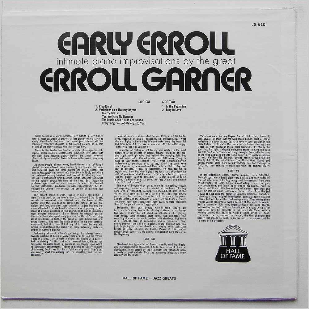 Erroll Garner - Early Erroll (JG 610)