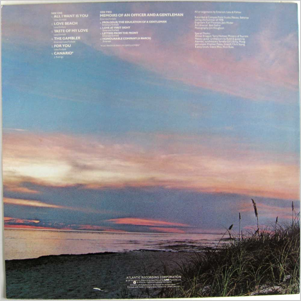 Emerson Lake & Palmer - Love Beach (K 50552)