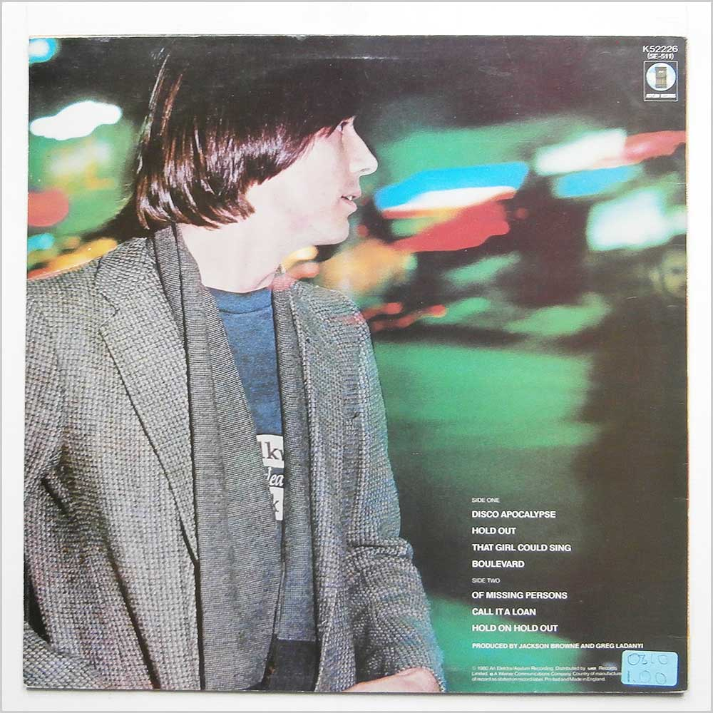 Jackson Browne - Hold Out (K 52226)