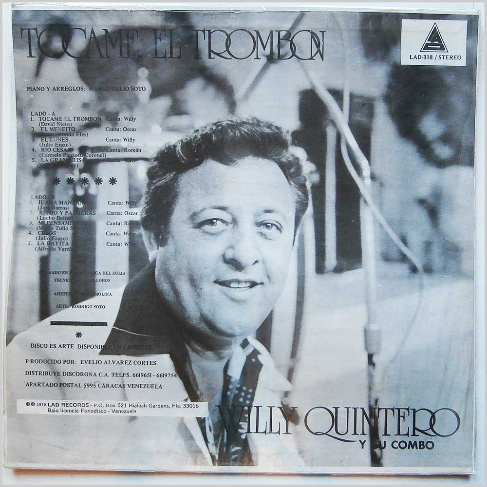 Willy Quintero Y Su Combo - Tocame El Trombon (LAD-318)
